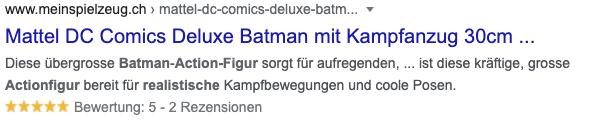 Bewertungen Rich Snippet Batman
